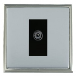 Hamilton Linea-Scala CFX Satin Nickel/Bright Steel 1 Gang Digital Satellite with Black Insert
