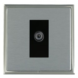 Hamilton Linea-Scala CFX Satin Nickel/Satin Steel 1 Gang Digital Satellite with Black Insert