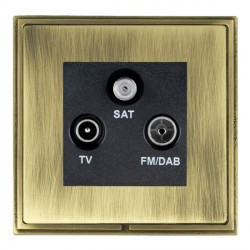 Hamilton Linea-Scala CFX Antique Brass/Antique Brass TV+FM+SAT (DAB Compatible) with Black Insert