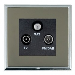 Hamilton Linea-Scala CFX Bright Chrome/Black Nickel TV+FM+SAT (DAB Compatible) with Black Insert