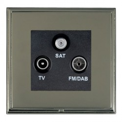 Hamilton Linea-Scala CFX Black Nickel/Black Nickel TV+FM+SAT (DAB Compatible) with Black Insert