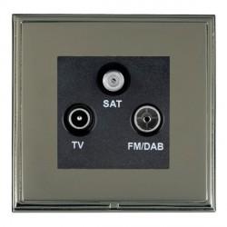 Hamilton Linea-Scala CFX Black Nickel/Black Nickel TV+FM+SAT (DAB Compatible) with Black Insert