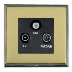 Hamilton Linea-Scala CFX Black Nickel/Polished Brass TV+FM+SAT (DAB Compatible) with Black Insert