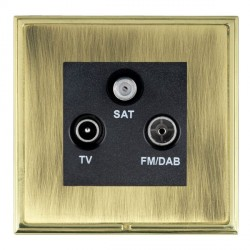 Hamilton Linea-Scala CFX Polished Brass/Antique Brass TV+FM+SAT (DAB Compatible) with Black Insert