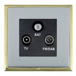 Hamilton Linea-Scala CFX Polished Brass/Bright Steel TV+FM+SAT (DAB Compatible) with Black Insert