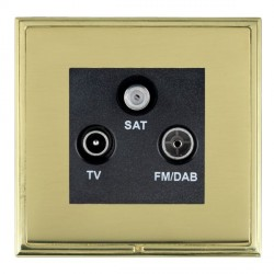 Hamilton Linea-Scala CFX Polished Brass/Polished Brass TV+FM+SAT (DAB Compatible) with Black Insert
