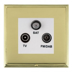 Hamilton Linea-Scala CFX Polished Brass/Polished Brass TV+FM+SAT (DAB Compatible) with White Insert