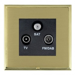 Hamilton Linea-Scala CFX Polished Brass/Satin Brass TV+FM+SAT (DAB Compatible) with Black Insert