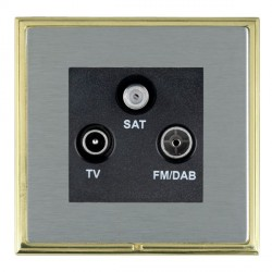 Hamilton Linea-Scala CFX Polished Brass/Satin Steel TV+FM+SAT (DAB Compatible) with Black Insert