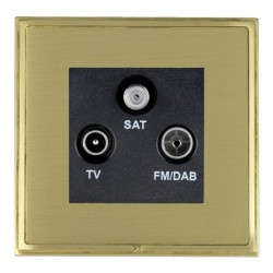 Hamilton Linea-Scala CFX Satin Brass/Satin Brass TV+FM+SAT (DAB Compatible) with Black Insert