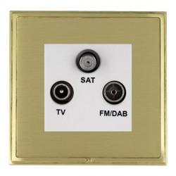 Hamilton Linea-Scala CFX Satin Brass/Satin Brass TV+FM+SAT (DAB Compatible) with White Insert