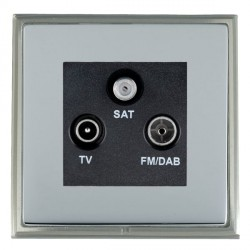 Hamilton Linea-Scala CFX Satin Nickel/Bright Steel TV+FM+SAT (DAB Compatible) with Black Insert