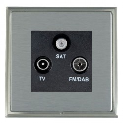 Hamilton Linea-Scala CFX Satin Nickel/Satin Steel TV+FM+SAT (DAB Compatible) with Black Insert