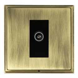 Hamilton Linea-Scala CFX Antique Brass/Antique Brass 1 Gang TV (Female) with Black Insert
