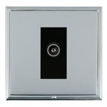 Hamilton Linea-Scala CFX Bright Chrome/Bright Steel 1 Gang TV (Female) with Black Insert