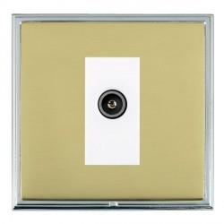 Hamilton Linea-Scala CFX Bright Chrome/Polished Brass 1 Gang TV (Female) with White Insert