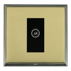 Hamilton Linea-Scala CFX Black Nickel/Polished Brass 1 Gang TV (Female) with Black Insert