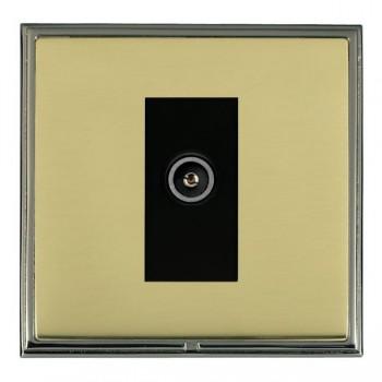 Hamilton Linea-Scala CFX Black Nickel/Polished Brass 1 Gang TV (Female) with Black Insert