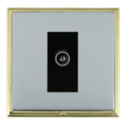 Hamilton Linea-Scala CFX Polished Brass/Bright Steel 1 Gang TV (Female) with Black Insert