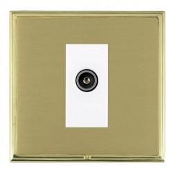 Hamilton Linea-Scala CFX Polished Brass/Satin Brass 1 Gang TV (Female) with White Insert