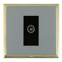 Hamilton Linea-Scala CFX Polished Brass/Satin Steel 1 Gang TV (Female) with Black Insert
