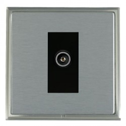 Hamilton Linea-Scala CFX Satin Nickel/Satin Steel 1 Gang TV (Female) with Black Insert
