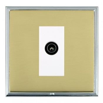 Hamilton Linea-Scala CFX Bright Chrome/Polished Brass 1 Gang TV (Male) with White Insert