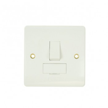 Click Mode White PVC Switched Fused Spur Connection Unit