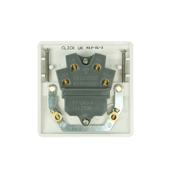Click Mode White Pvc Switched Fused Spur Connection Unit  Buy Switches And Sockets At Uk