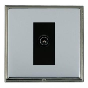 Hamilton Linea-Scala CFX Black Nickel/Bright Steel 1 Gang TV (Male) with Black Insert