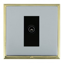 Hamilton Linea-Scala CFX Polished Brass/Bright Steel 1 Gang TV (Male) with Black Insert