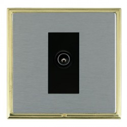 Hamilton Linea-Scala CFX Polished Brass/Satin Steel 1 Gang TV (Male) with Black Insert