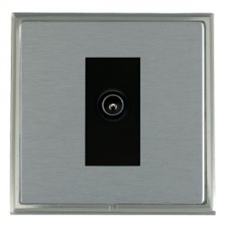 Hamilton Linea-Scala CFX Satin Nickel/Satin Steel 1 Gang TV (Male) with Black Insert