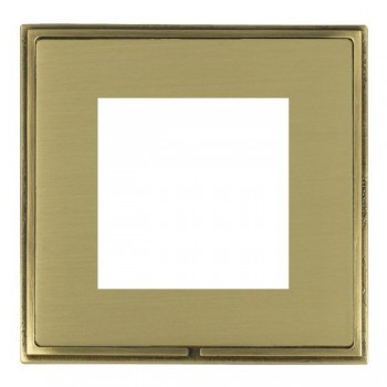 Hamilton Linea-Scala CFX Antique Brass/Satin Brass Single Plate c/w 2 EuroFix Apertures + Grid