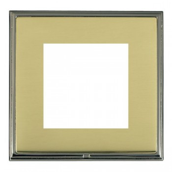 Hamilton Linea-Scala CFX Black Nickel/Polished Brass Single Plate c/w 2 EuroFix Apertures + Grid