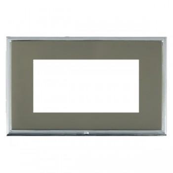 Hamilton Linea-Scala CFX Bright Chrome/Black Nickel Double Plate c/w 4 EuroFix Apertures + Grid