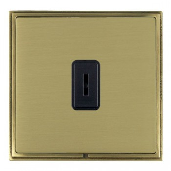 Hamilton Linea-Scala CFX Antique Brass/Satin Brass 1 Gang 2 Way Key Switch with Black Insert