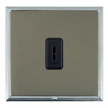 Hamilton Linea-Scala CFX Bright Chrome/Black Nickel 1 Gang 2 Way Key Switch with Black Insert