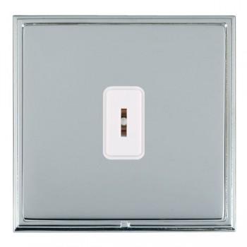 Hamilton Linea-Scala CFX Bright Chrome/Bright Steel 1 Gang 2 Way Key Switch with White Insert