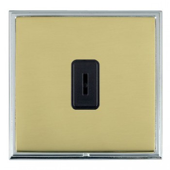Hamilton Linea-Scala CFX Bright Chrome/Polished Brass 1 Gang 2 Way Key Switch with Black Insert
