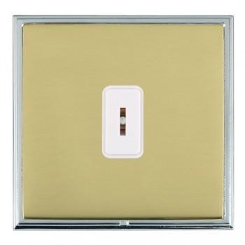 Hamilton Linea-Scala CFX Bright Chrome/Polished Brass 1 Gang 2 Way Key Switch with White Insert