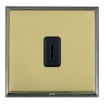 Hamilton Linea-Scala CFX Black Nickel/Polished Brass 1 Gang 2 Way Key Switch with Black Insert