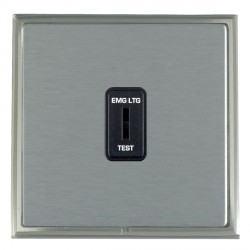 Hamilton Linea-Scala CFX Satin Nickel/Satin Steel 1 Gang 2 Way Key Switch 'EMG LTG TEST' with Black Insert
