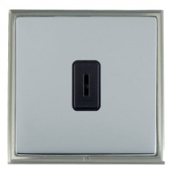 Hamilton Linea-Scala CFX Satin Nickel/Bright Steel 1 Gang 2 Way Key Switch with Black Insert