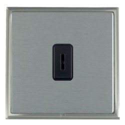 Hamilton Linea-Scala CFX Satin Nickel/Satin Steel 1 Gang 2 Way Key Switch with Black Insert