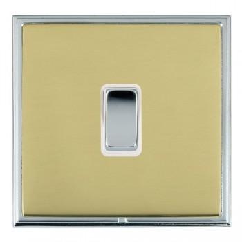 Hamilton Linea-Scala CFX Bright Chrome/Polished Brass 1 Gang 10amp 2 Way Rocker with White Insert
