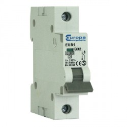 Europa EUB132B 32amp Type B 6kA Single Pole MCB