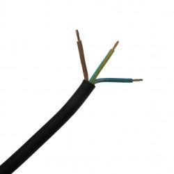 3 Metre Length of 0.75mm 3 Core Black Flexible Cable