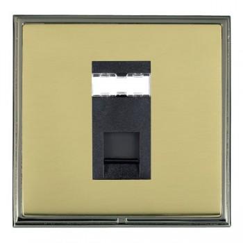 Hamilton Linea-Scala CFX Black Nickel/Polished Brass 1 Gang RJ12 Outlet Unshielded with Black Insert