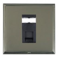 Hamilton Linea-Scala CFX Black Nickel/Black Nickel 1 Gang RJ45 Outlet Cat 5e Unshielded with Black Insert